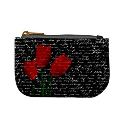 Red Tulips Mini Coin Purses by Valentinaart