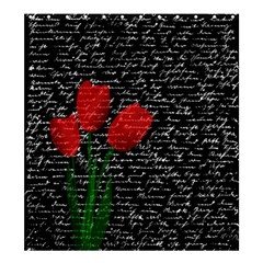 Red Tulips Shower Curtain 66  X 72  (large)  by Valentinaart