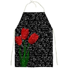 Red Tulips Full Print Aprons by Valentinaart