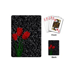 Red Tulips Playing Cards (mini)  by Valentinaart