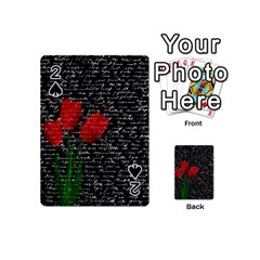 Red Tulips Playing Cards 54 (mini)  by Valentinaart
