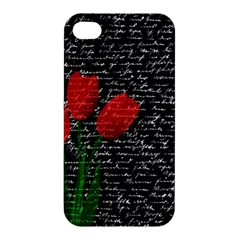 Red Tulips Apple Iphone 4/4s Hardshell Case by Valentinaart