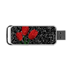 Red Tulips Portable Usb Flash (one Side) by Valentinaart