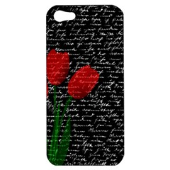 Red Tulips Apple Iphone 5 Hardshell Case by Valentinaart