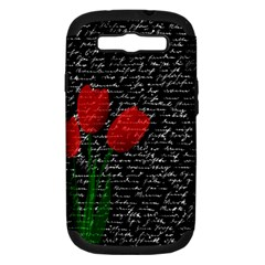Red Tulips Samsung Galaxy S Iii Hardshell Case (pc+silicone) by Valentinaart