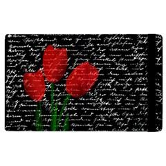 Red Tulips Apple Ipad 2 Flip Case by Valentinaart