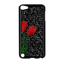 Red Tulips Apple Ipod Touch 5 Case (black) by Valentinaart
