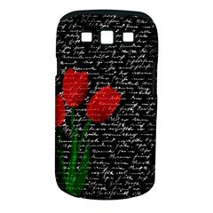 Red Tulips Samsung Galaxy S Iii Classic Hardshell Case (pc+silicone) by Valentinaart