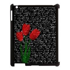 Red Tulips Apple Ipad 3/4 Case (black) by Valentinaart