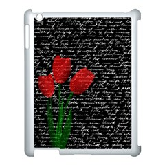Red Tulips Apple Ipad 3/4 Case (white) by Valentinaart