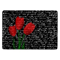 Red Tulips Samsung Galaxy Tab 10 1  P7500 Flip Case by Valentinaart