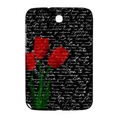 Red Tulips Samsung Galaxy Note 8 0 N5100 Hardshell Case  by Valentinaart