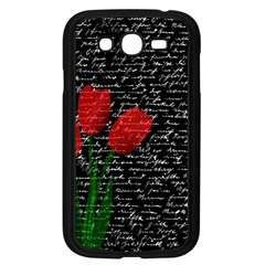 Red Tulips Samsung Galaxy Grand Duos I9082 Case (black) by Valentinaart