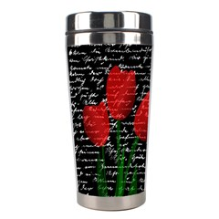Red Tulips Stainless Steel Travel Tumblers by Valentinaart