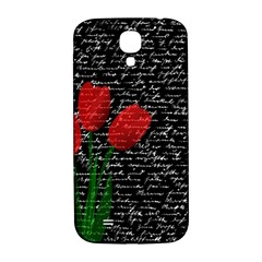 Red Tulips Samsung Galaxy S4 I9500/i9505  Hardshell Back Case by Valentinaart