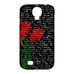 Red Tulips Samsung Galaxy S4 Classic Hardshell Case (pc+silicone) by Valentinaart