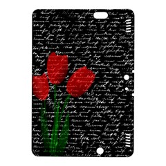 Red Tulips Kindle Fire Hdx 8 9  Hardshell Case by Valentinaart