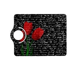 Red Tulips Kindle Fire Hd (2013) Flip 360 Case by Valentinaart