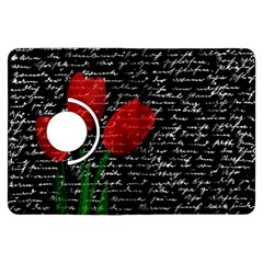 Red Tulips Kindle Fire Hdx Flip 360 Case by Valentinaart