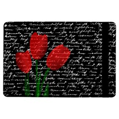 Red Tulips Ipad Air Flip by Valentinaart