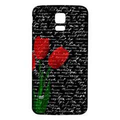 Red Tulips Samsung Galaxy S5 Back Case (white) by Valentinaart