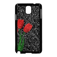Red Tulips Samsung Galaxy Note 3 Neo Hardshell Case (black) by Valentinaart