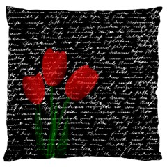 Red Tulips Standard Flano Cushion Case (two Sides) by Valentinaart