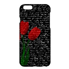 Red Tulips Apple Iphone 6 Plus/6s Plus Hardshell Case by Valentinaart
