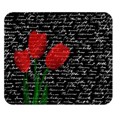 Red Tulips Double Sided Flano Blanket (small)  by Valentinaart