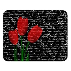 Red Tulips Double Sided Flano Blanket (large)  by Valentinaart