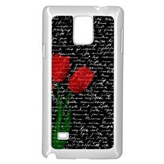 Red Tulips Samsung Galaxy Note 4 Case (white) by Valentinaart