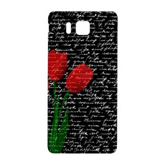 Red Tulips Samsung Galaxy Alpha Hardshell Back Case by Valentinaart