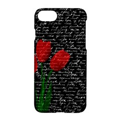 Red Tulips Apple Iphone 7 Hardshell Case by Valentinaart