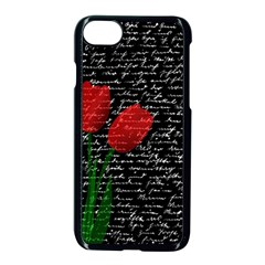 Red Tulips Apple Iphone 7 Seamless Case (black) by Valentinaart