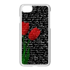 Red Tulips Apple Iphone 7 Seamless Case (white) by Valentinaart