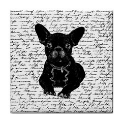 Cute Bulldog Tile Coasters by Valentinaart