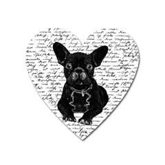Cute Bulldog Heart Magnet by Valentinaart
