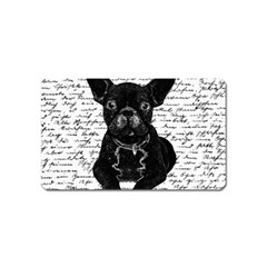 Cute Bulldog Magnet (name Card) by Valentinaart
