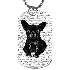 Cute Bulldog Dog Tag (two Sides) by Valentinaart