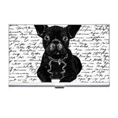 Cute Bulldog Business Card Holders by Valentinaart