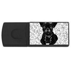Cute Bulldog Usb Flash Drive Rectangular (4 Gb) by Valentinaart