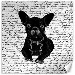 Cute Bulldog Canvas 16  X 16   by Valentinaart