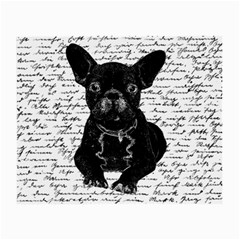 Cute Bulldog Small Glasses Cloth (2 Side) by Valentinaart