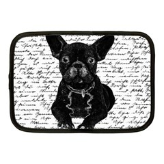 Cute Bulldog Netbook Case (medium)  by Valentinaart