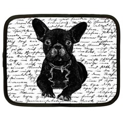 Cute Bulldog Netbook Case (xl)  by Valentinaart
