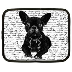 Cute Bulldog Netbook Case (xxl)  by Valentinaart