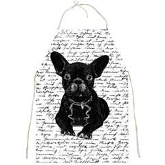 Cute Bulldog Full Print Aprons by Valentinaart
