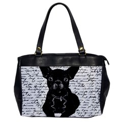 Cute Bulldog Office Handbags by Valentinaart