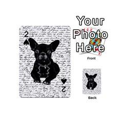 Cute Bulldog Playing Cards 54 (mini)  by Valentinaart