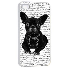 Cute Bulldog Apple Iphone 4/4s Seamless Case (white) by Valentinaart